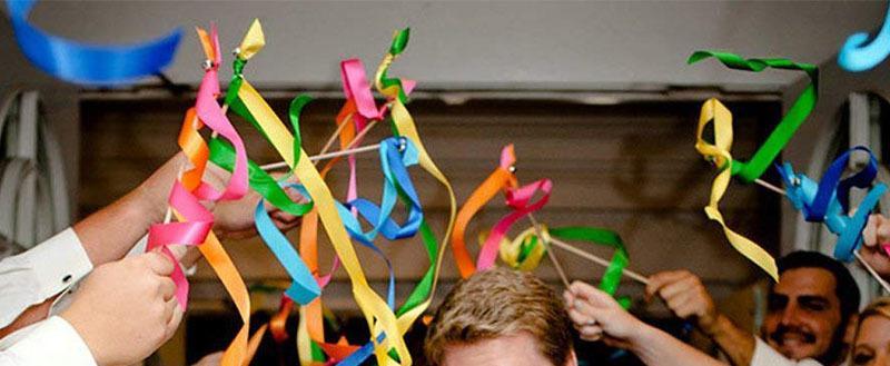 Ideas de boda: Varitas con cintas