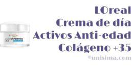 Crema de día Activos Anti-edad Colágeno +35 de LOreal, Análisis y Alternativa