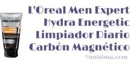 Hydra Energetic Limpiador Diario Carbón Magnético de Loreal Men Expert, Análisis y Alternativa