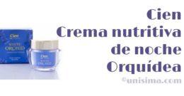 Crema nutritiva de noche Orquídea de Cien, Análisis y Alternativa
