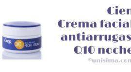 Crema facial antiarrugas Q10 noche de Cien, Análisis y Alternativa