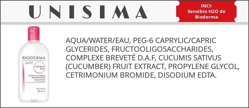 inci agua micelar bioderma