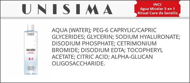 inci agua micelar sensilis
