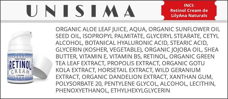 inci-crema antiarrugas lilyana naturals