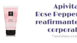 Crema corporal reafirmante y remodelante Rose Pepper de Apivita, Análisis y Alternativa