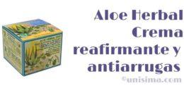 Crema reafirmante antiarrugas con Aloe Vera y Centella Asiática de Aloe Herbal, Análisis y Alternativa
