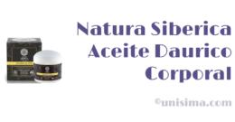 Aceite Daurico Corporal de Natura Siberica, Análisis y Alternativa