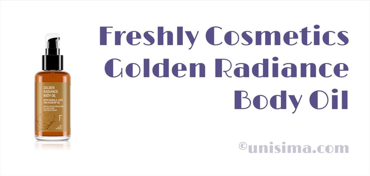 Golden Radiance Body Oil de Freshly Cosmetics